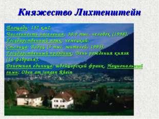 Площадь: 157 км2. Численность населения: 30,9 тыс. человек (1998). Государств