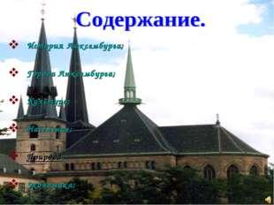 История Люксембурга; Города Люксембурга; Культура; Население; Природа; Эконом
