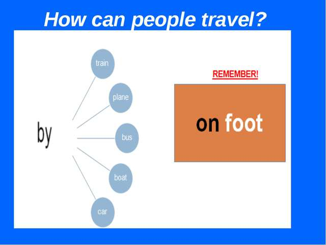 How can people travel?