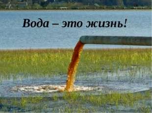 Вода – это жизнь!