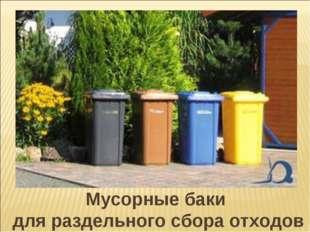 Мусорные баки для раздельного сбора отходов