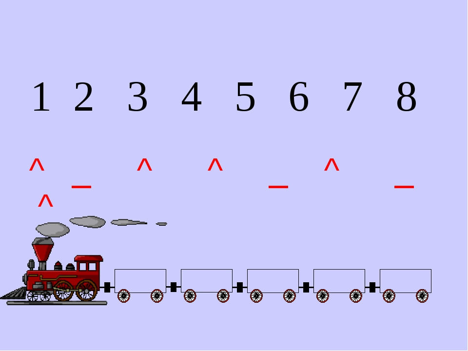 1 2 3 4 5 6 7 8 ^ _ ^ ^ _ ^ _ ^