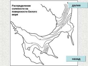 Распределение солености на поверхности Белого моря назад далее