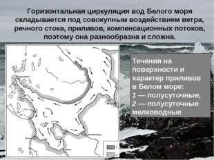 Горизонтальная циркуляция вод Белого моря складывается под совокупным воздейс