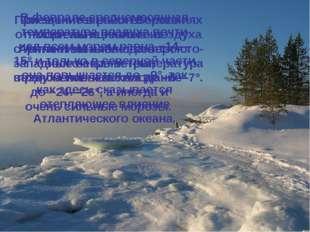 Зима на Белом море продолжительная и суровая. Вэто время над северной частью