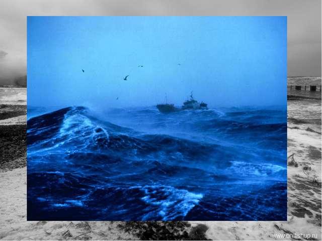 Белое море принадлежит к числу бурных морей. Наиболее сильное волнение наблюд...