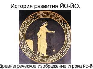 История развития ЙО-ЙО. Древнегреческое изображение игрока йо-йо