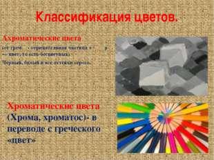 Классификация цветов. Ахроматические цвета (от греч. α- отрицательная частица