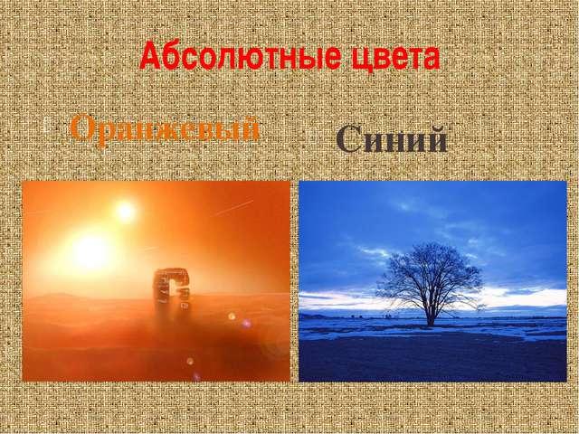 Абсолютные цвета Оранжевый Синий