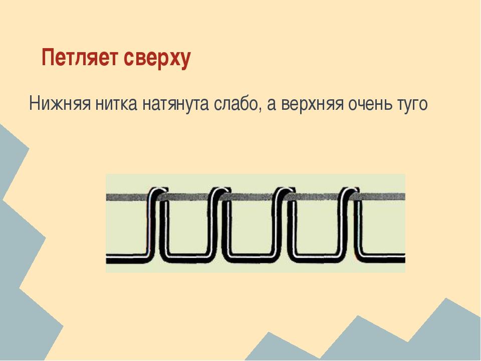 Почему нижняя нитка в швейной машинке петляет нижняя