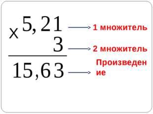 Х 1 множитель 2 множитель Произведение