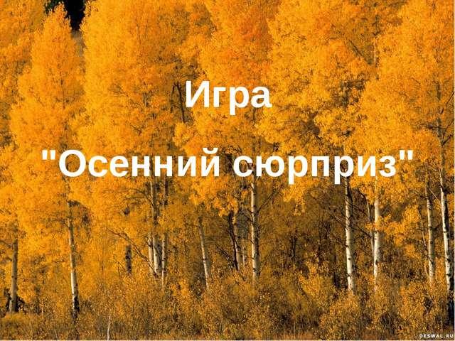 """Игра """"Осенний сюрприз"""""""