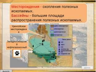Нефть Природный газ Каменный уголь Золото Железные руды Осадочные Магматичес
