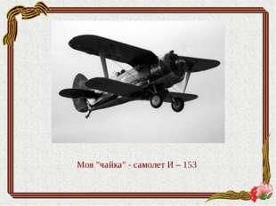 """Моя """"чайка"""" - самолет И – 153"""