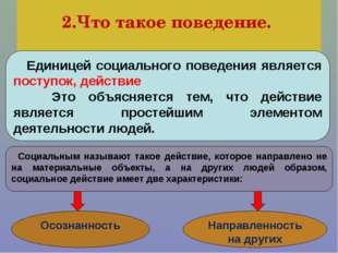 2.Что такое поведение. На разных этапах жизни происходят также серьезные пер