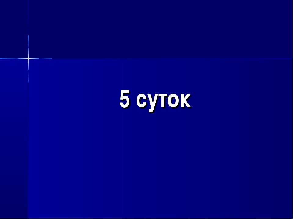 5 суток