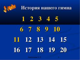 История нашего гимна 1 2 3 4 5 6 7 8 9 10 11 12 13 14 15 16 17 18 19 20 Хапил