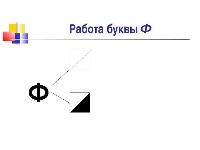 Работа буквы Ф Ф