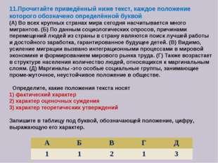 11.Прочитайте приведённый ниже текст, каждое положение которого обозначено оп