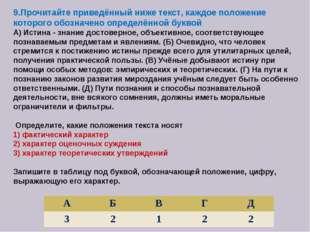 9.Прочитайте приведённый ниже текст, каждое положение которого обозначено опр