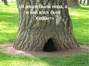 «В земле была нора, а в ней жил был Хоббит»