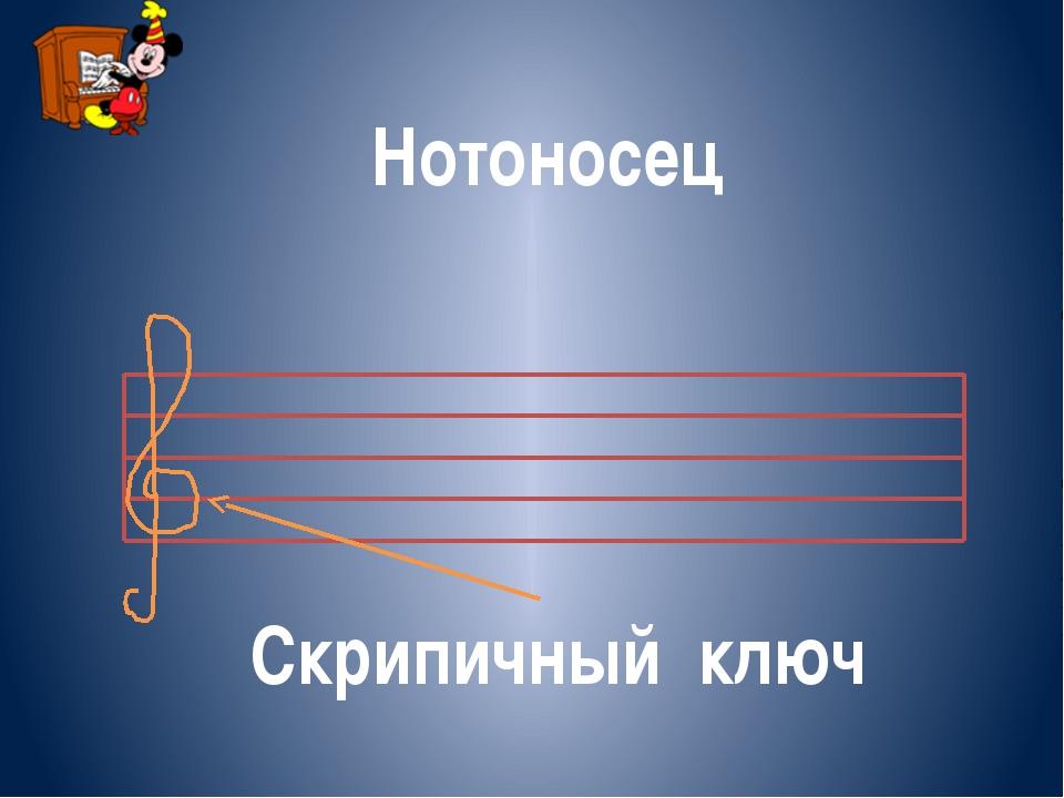 Нотоносец Скрипичный ключ
