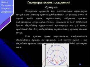 Геометрические построения Орицикл Построение орицикла как ортогональной трае