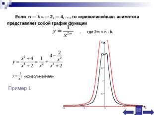 , где 2m = n - k, «криволинейная» Пример 1 Оглавление Если n — k = — 2, — 4,