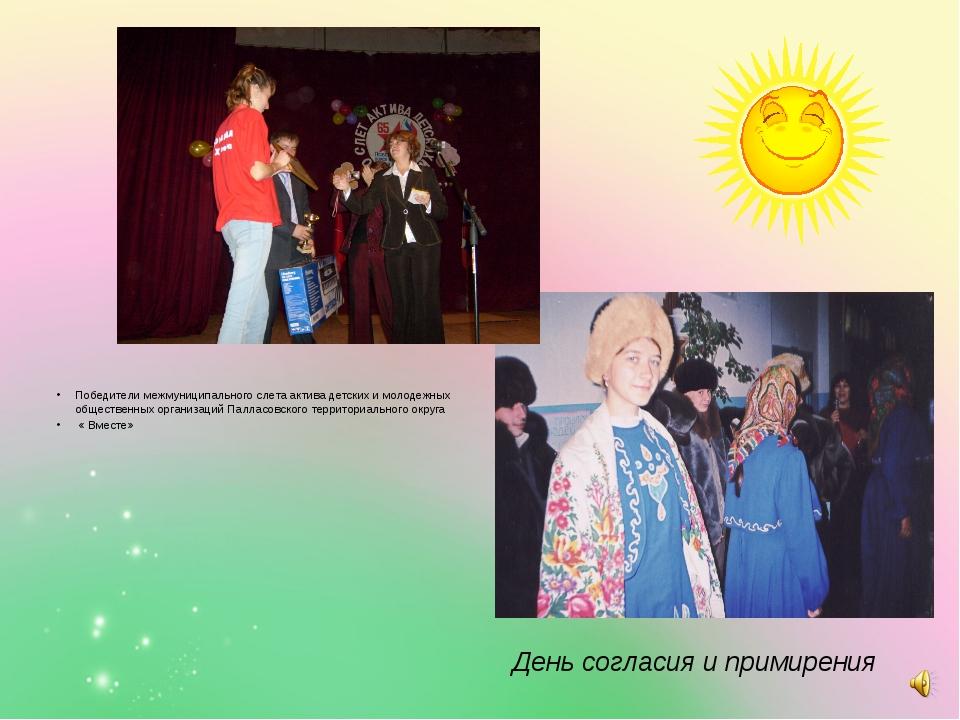 Победители межмуниципального слета актива детских и молодежных общественных...