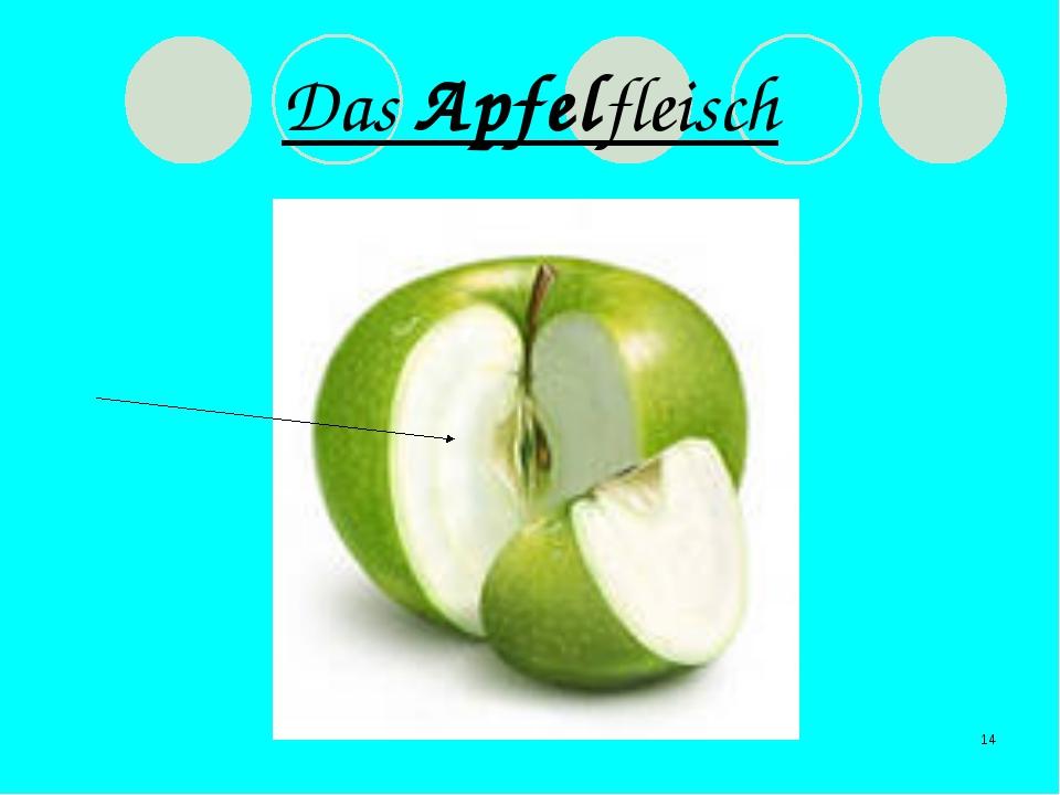 * Das Apfelfleisch