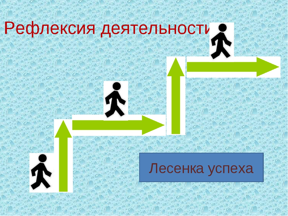 Рефлексия деятельности Лесенка успеха