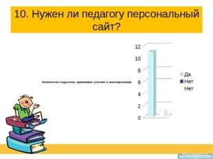10. Нужен ли педагогу персональный сайт?   Prezentacii.com
