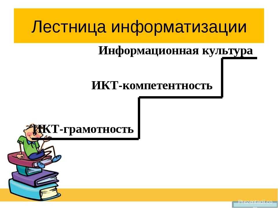 Лестница информатизации Prezentacii.com Информационная культура ИКТ-компетент...