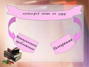 АМО на этапе рефлексии Незаконченное предложение Телеграмма