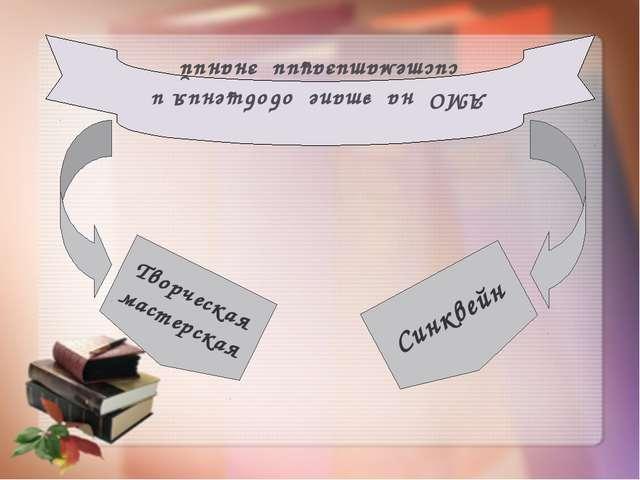 АМО на этапе обобщения и систематизации знаний Творческая мастерская Синквей...