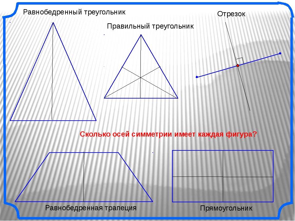 Правильный треугольник Равнобедренный треугольник Отрезок Прямоугольник Скол...