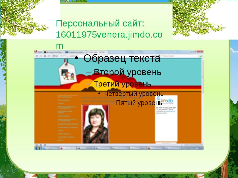 Персональный сайт: 16011975venera.jimdo.com