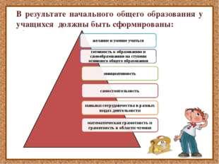 В результате начального общего образования у учащихся должны быть сформирован
