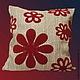 Для дома и интерьера ручной работы. Ярмарка Мастеров - ручная работа Подушка цветы. Handmade.