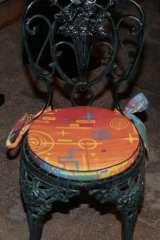 Сидушка для стула круглая