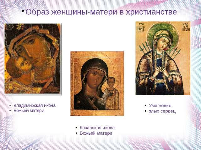 Образ женщины-матери в христианстве Владимирская икона Божьей матери Казанска...