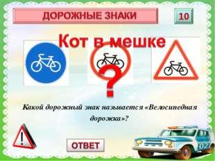 Какой дорожный знак называется «Велосипедная дорожка»?