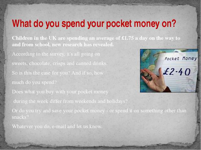 Children in the UK are spending an average of £1.75 a day on the way to and f...