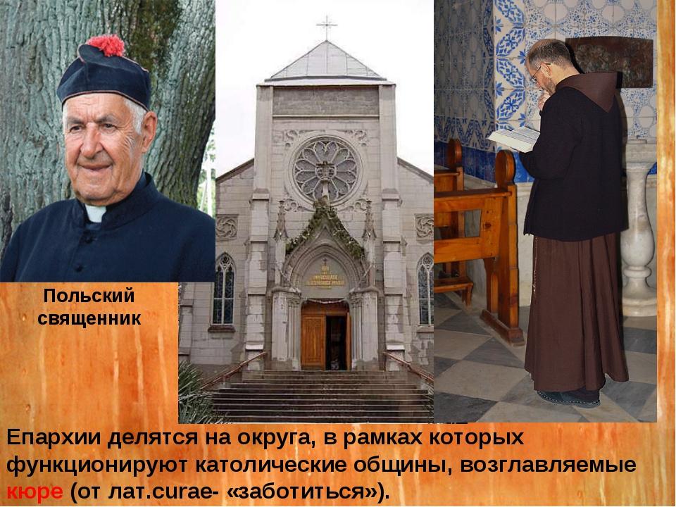 Епархии делятся на округа, в рамках которых функционируют католические общины...