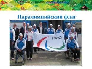 Паралимпийский флаг «Мой университет» www.moi-universitet.ru