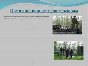 Памятник воинам-односельчанам  В центре посёлка Вознесенский в красивом угол