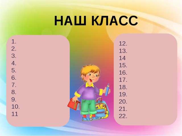НАШ КЛАСС 1. 2. 3. 4. 5. 6. 7. 8. 9. 10. 11 12. 13. 14 15. 16. 17. 18. 19. 20...