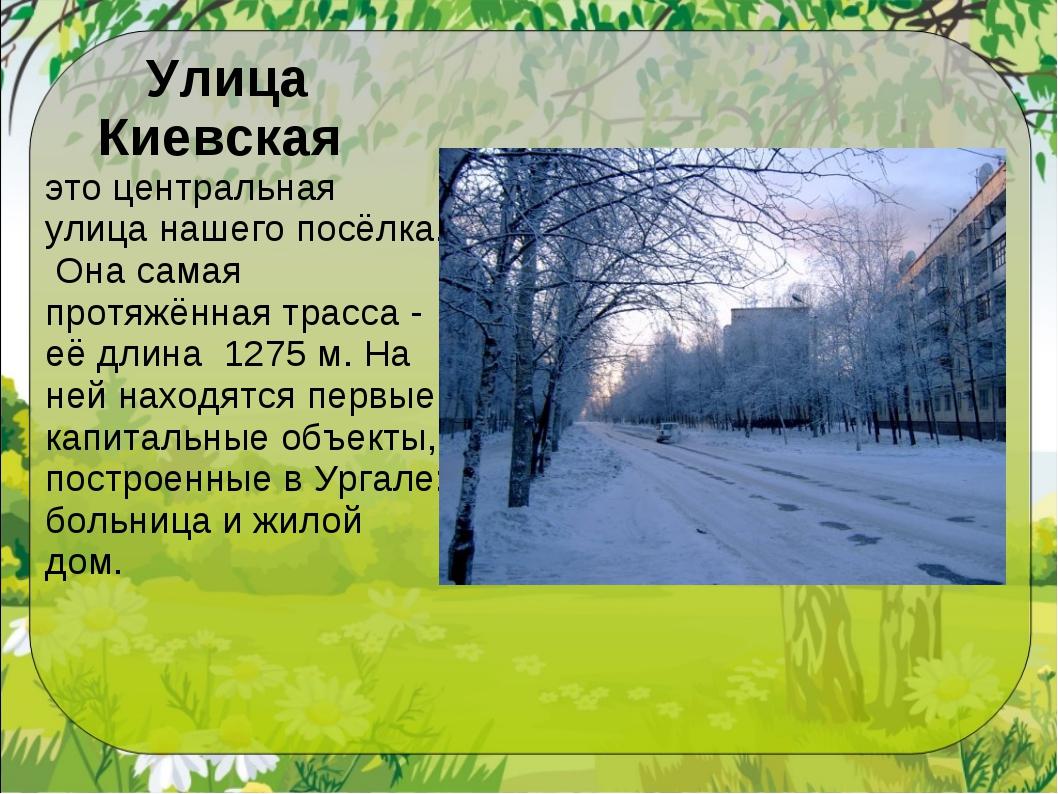 Улица Киевская это центральная улица нашего посёлка. Она самая протяжённая тр...