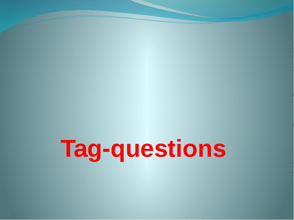 Tag-questions