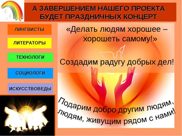 ЛИНГВИСТЫ ЛИТЕРАТОРЫ СОЦИОЛОГИ ТЕХНОЛОГИ ИСКУССТВОВЕДЫ А ЗАВЕРШЕНИЕМ НАШЕГО П...